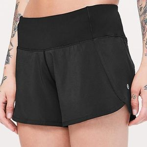 Lululemon black running shorts. Good as new!